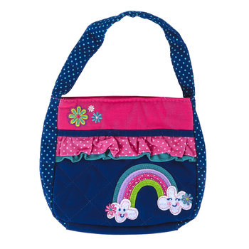 Stephen Joseph, Rainbow Quilted Purse, Cotton, 7 x 8 inches