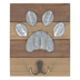 Dog Paw Wall Hook, MDF & Galvanized Metal, 8 x 6 1/2 inches