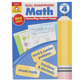 Evan-Moor, Skill Sharpeners Math Activity Book, Paperback, 144 Pages, Grade 4