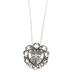 Wildflower Road, Heart with Cross Necklace, Zinc Alloy & Iron, Silver, 18 inches