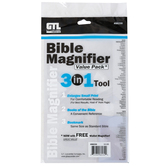 G.T. Luscombe, 3-in-1 Bible Magnifier Bookmark, Clear, 9 x 6 inches