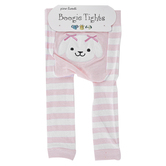 Piero Liventi, Toy Puppy Boogie Tights Baby Leggings, Pink & White, Ages 6 to 12 Months
