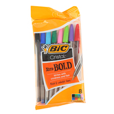 Bic, Cristal Ball Point Pens, Bold Point, Assorted, Pack of 8