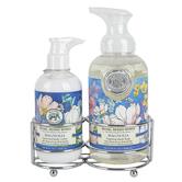 Michel Design Works, Magnolia Handcare Caddy, Soap 17.8 ounces, Lotion 8 ounces