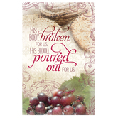 Salt & Light, His Body Broken for Us Communion Bulletins, 8 1/2 x 11 inches Flat, 100 Count
