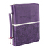 Christian Art, Floral Bible Cover, LuxLeather, Purple, Medium