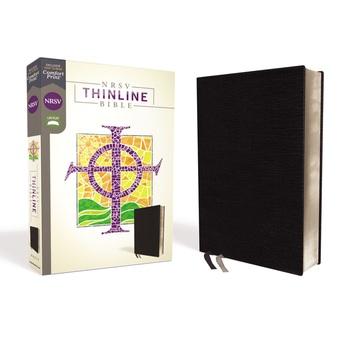 NRSV Thinline Bible, Bonded Leather, Black