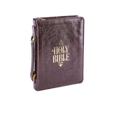 Christian Art, Holy Bible Cover, Brown, Large