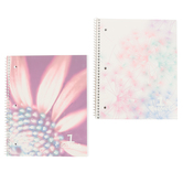 Top Flight, Petals & Stripes 1 Subject Notebook, Spiral Bound, 100 Pages
