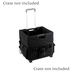 Renewing Minds, Rolling Cart Organizer, Black, 1 Piece