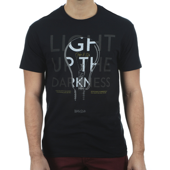 Kerusso, John 8:12 Light Up the Darkness, Men's Short Sleeve T-shirt, Black, S-3XL