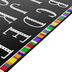 Flagship Carpets, Learning Colorful ABC's Rug, Uppercase, Black, White, and Multi-Colored, 4 x 6 Feet