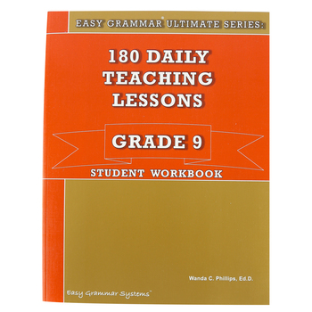 Easy Grammar Ultimate Series: 180 Daily Teaching Lessons Grade 9 Student Workbook, Paperback, Grade 9