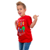 Gardenfire, Zephaniah 3:17 Pixel Hero, Kid's Short Sleeve T-Shirt, Red, Large