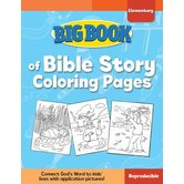 Big Book of Bible Story Coloring Pages for Elementary Kids by David C Cook, Paperback, 240 Pages, Grades K-6