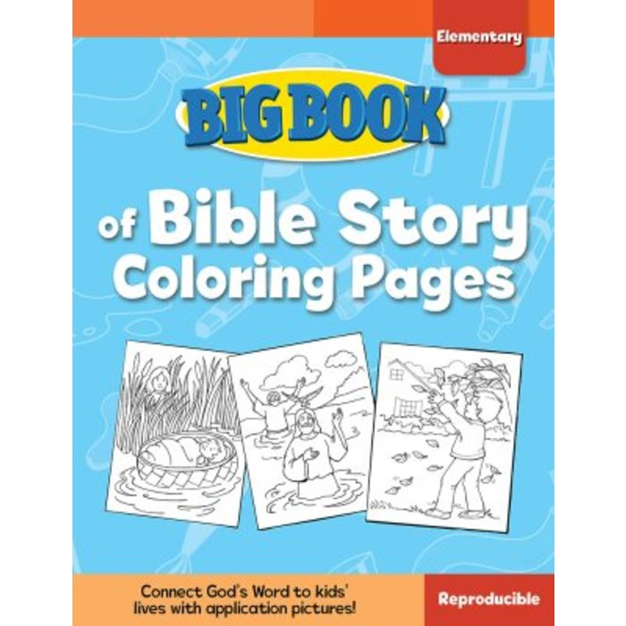 Big Book Of Bible Story Coloring Pages For Elementary Kids By David C Cook,  Paperback, 240 Pages, Grades K-6 Mardel 9780830772339