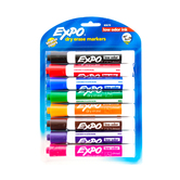 Expo, Low-Odor Dry Erase Markers, Chisel Tip, 8-Pack, Assorted Colors