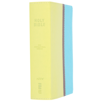 NIV Compact Giant Print Bible, Duo-Tone, Melon Green and Turquoise