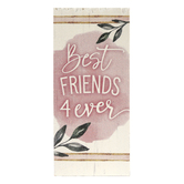 P. Graham Dunn, Best Friends 4 Ever Word Block, Pine Wood, 3 1/2 x 1 5/8 inches