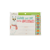 Renewing Minds, Llama Just Say Certificate, 8.5 x 5.5 Inches, Pack of 30