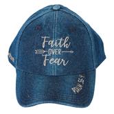 Kerusso, Faith Over Fear Cap, Denim, Blue, One Size