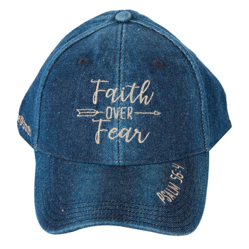 Kerusso, Faith Over Fear Cap, Denim, Blue, One Size