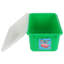 Storex, Small Cubby Bin With Clear Lid, Green, 12.28 x 7.95 x 5.22 Inches, 2 Pieces