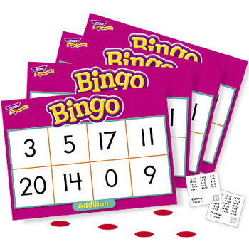 Trend, Addition Bingo Game, Ages 6 Years and Older, 3 to 36 Players