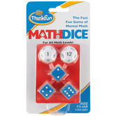ThinkFun, Math Dice Game, 15 Pieces, Grades 3 and up