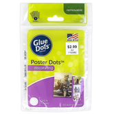 Glue Dots, Poster Glue Dots, 1/2 inch Each, Set of 60 Dots