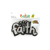 Playside Creations, Fuzzy Art-Faith, 6 x 3.75 Inches, Black and White, 24 Count
