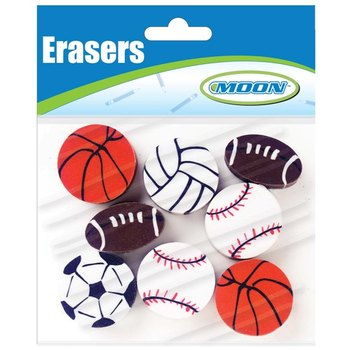 Moon Creative Products, Sports Toppers, 1 Inch, Assorted, Pack of 8