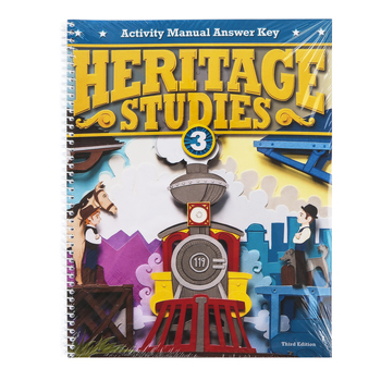 BJU Press, Heritage Studies 3 Student Activity Manual Answer Key, 3rd Edition, Grade 3
