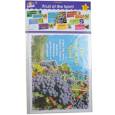 North Star Teacher Resources, Fruit of the Spirit Bulletin Board Set, Various Sizes, 10 Pieces