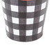 Farmhouse Lane Collection, Small Bucket, 4 x 4.5-inch, Black and White Gingham with Red