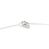 His Truly, Heart with Floral Cutout Pendant Necklace, Zinc Alloy, Silver, 32 Inch Chain