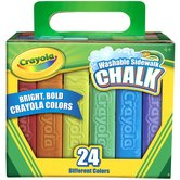 Crayola, Washable Sidewalk Chalk, 24 Count