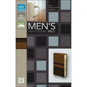 NIV Men's Devotional Bible, Compact, Duo-Tone, Walnut and Espresso