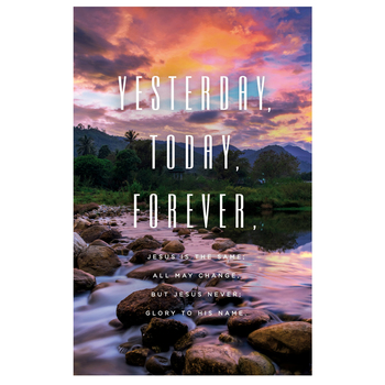 Salt & Light, Yesterday Today Forever Church Bulletins, 8 1/2 x 11 inches Flat, 100 Count
