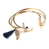 Faithful and Fabulous, Angel Wing Wire Bracelet Set, Brass and Zinc Alloy, Gold, 3 Pieces