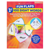 Scholastic, Fun Flaps 1st 100 Sight Words Activity Book, Paperback, 64 Pages, Grades K-2