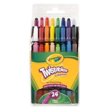 Crayola, Mini Twistables Crayons, 24 Count