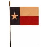 Annin & Company Inc., Texas State Flag with Rod, 8 x 12 Inches, Multi-Colored, 2 Pieces