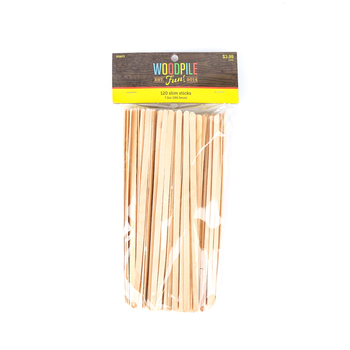 Woodpile Fun, Slim Wooden Craft Sticks, 7 1/2  x 3/16 inches, Natural, 120 Count