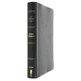 NASB 95 Thinline Bible, Giant Print, Bonded Leather, Black