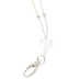 ID Avenue, Silver with Heart Beaded ID Lanyard, 38 Inches, 1 Piece