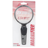 Carson, Handheld Magnifier, Black, 3 1/2 x 4 inches
