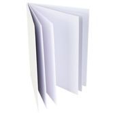 The Brainery, Portrait Hardcover Blank Book, 8 1/2 x 11 Inches, White, 28 Pages