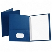Oxford, Twin-Pocket Folder with Three Fasteners, Blue, 9 x 12 Inches