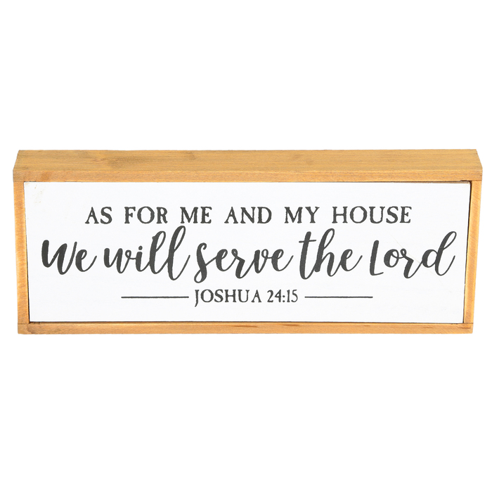 Joshua 24 15 As For Me And My House Wall Decor Mdf White 9 1 2 X 3 3 4 X 1 1 4 Inches Mardel 3748290